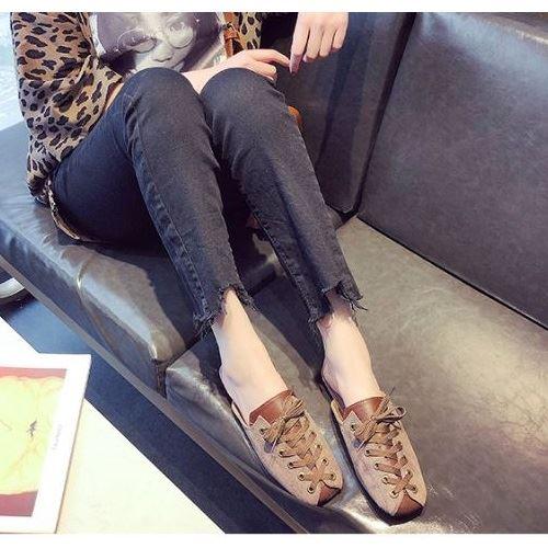 JSSC39-khaki Slip On Shoes Wanita Cantik Import Terbaru