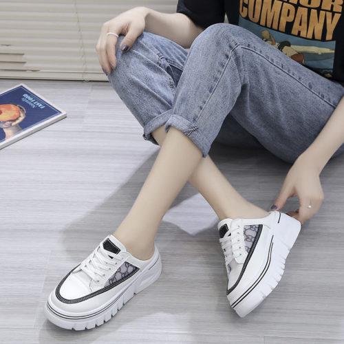 JSSD031-black Sepatu Sneakers Slip On Wanita Cantik Import