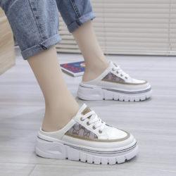 JSSD031-khaki Sepatu Sneakers Slip On Wanita Cantik Import