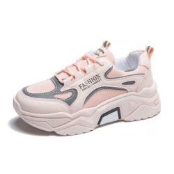 JSSD205-pink Sepatu Sneakers Wanita Cantik Import Glow