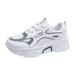 JSSD205-white Sepatu Sneakers Wanita Cantik Import Glow