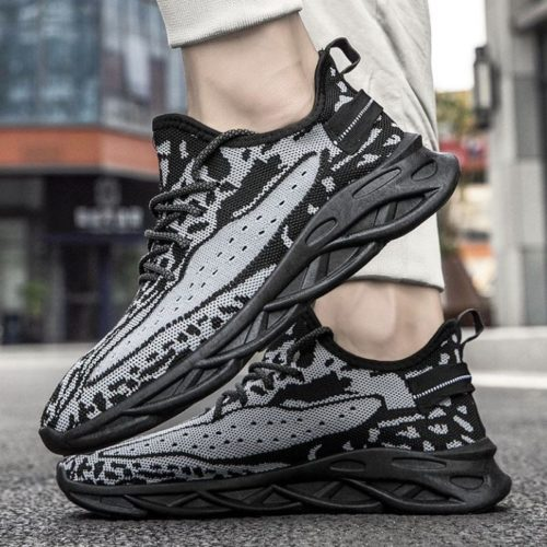 JSSDF1-black Sepatu Sneakers Pria Modis Import