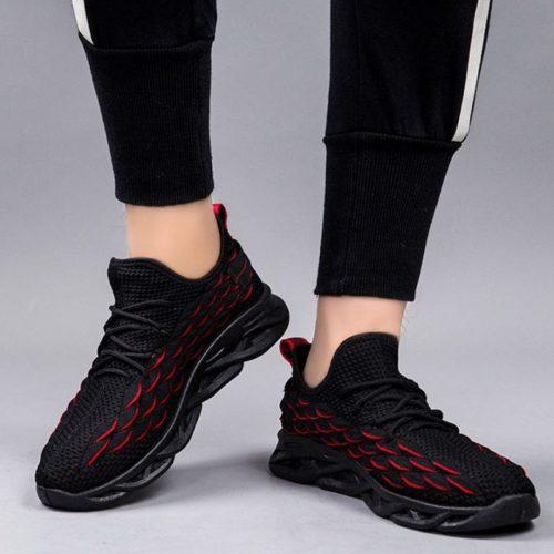 JSSDFYL-black Sepatu Sneakers Pria Modis Import Terbaru