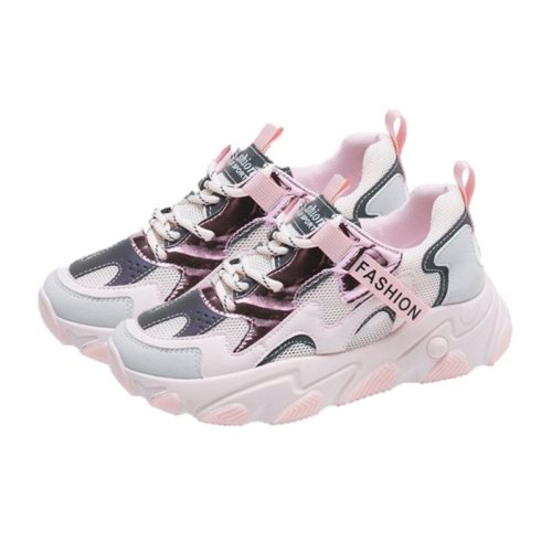JSSE209-pink Sepatu Sneakers Sport Wanita Glow in the Dark