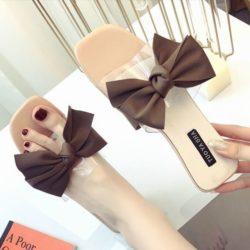 JSSF1-pink Sandal Flat Pita Wanita Cantik Import