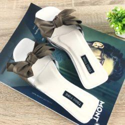 JSSF1-white Sandal Flat Pita Wanita Cantik Import