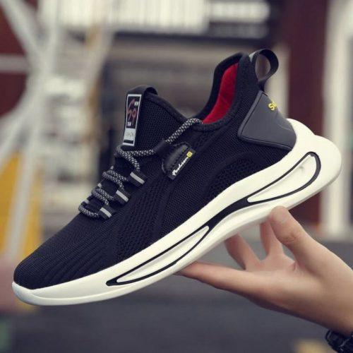 JSSFA6-black Sepatu Sneakers Pria Modis Import Terbaru