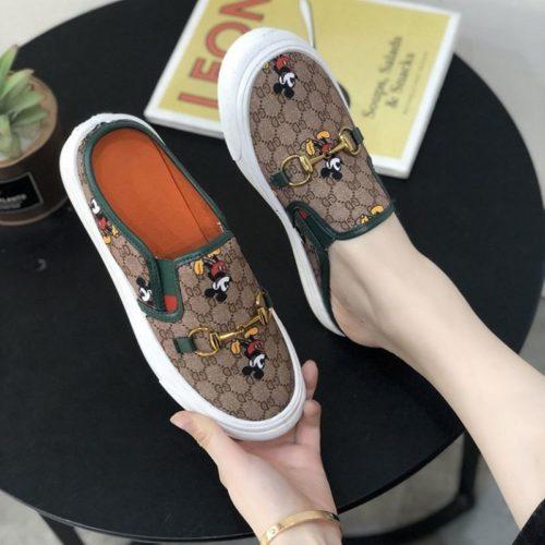 JSSG02-green Sepatu Slip On Wanita Mickey Import