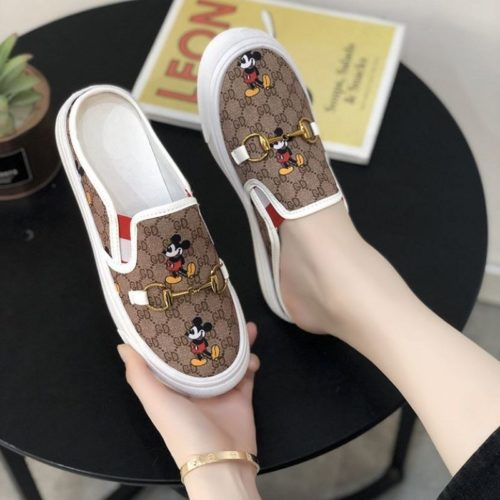 JSSG02-white Sepatu Slip On Wanita Mickey Import