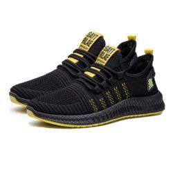 JSSG1-yellow Sepatu Sport Olah Raga Pria Import Terbaru