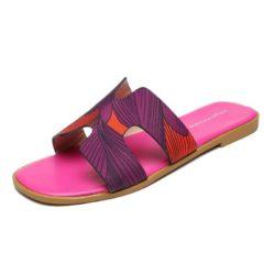 JSSK16-rose Sandal Flat Wanita Cantik Comfy Terbaru Import