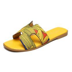 JSSK16-yellow Sandal Flat Wanita Cantik Comfy Terbaru Import