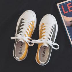 JSSKB10-yellow Sepatu Sneakers Canvas Wanita Cantik Import