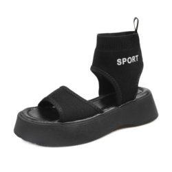 JSSM18-black Sandal Gunung Fashion Wanita Cantik Import
