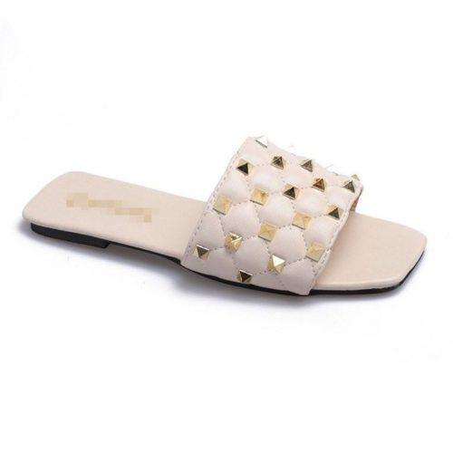 JSSM222-beige Sandal Comfy Wanita Cantik Import Terbaru
