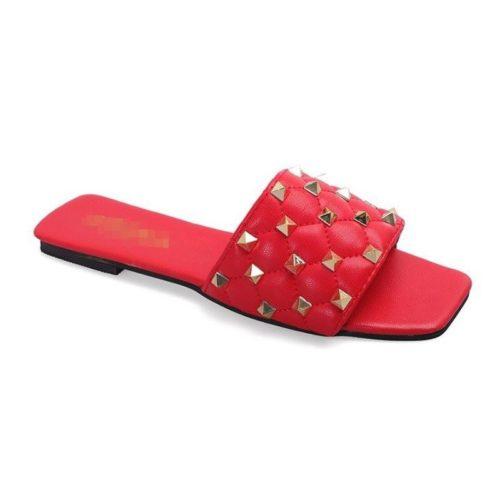 JSSM222-red Sandal Comfy Wanita Cantik Import Terbaru