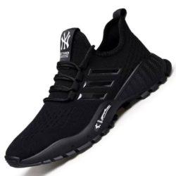 JSST002-black Sepatu Sneakers Pria Modis Keren Terbaru