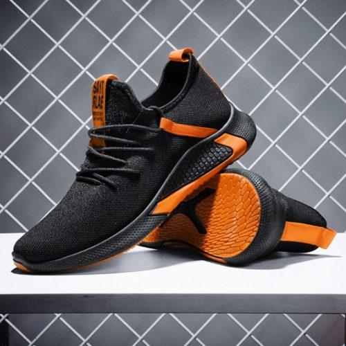 JSSTL2-blackorange Sepatu Sneakers Sport dan Casual Pria Import
