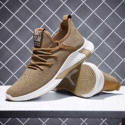 JSSTL2-khaki Sepatu Sneakers Sport dan Casual Pria Import