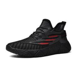 JSSTL208-black Sepatu Sneakers Olah Raga Pria Modis Import