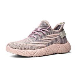 JSSTL208-pink Sepatu Sneakers Olah Raga Wanita Catik Import
