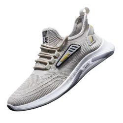 JSSY6-beige Sepatu Sneakers Olah Raga Import Pria Modis