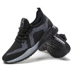 JSSZ11-black Sepatu Sneakers Olah Raga Pria Keren
