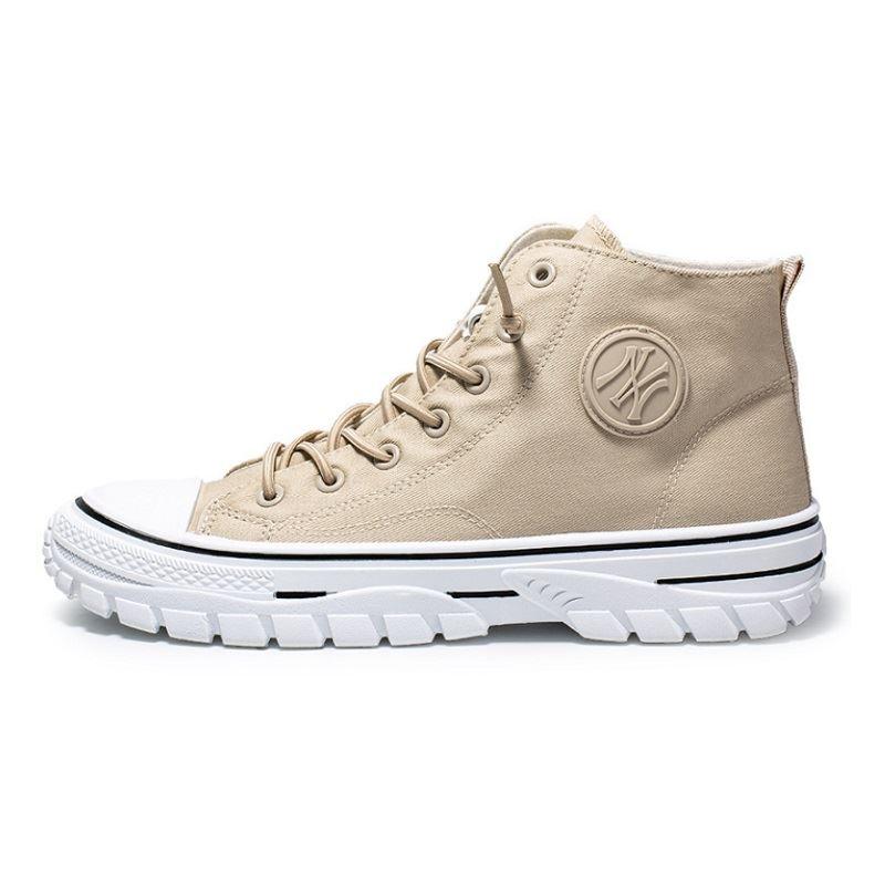 JSSZM-beige Sepatu High Top Sneakers Pria Keren
