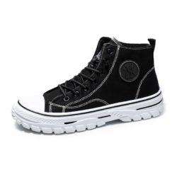 JSSZM-black Sepatu High Top Sneakers Pria Keren