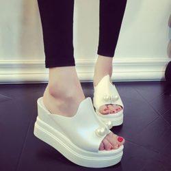 JSWC35-white Sandal Wedges Wanita Cantik Import