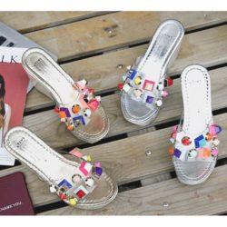 JSWT11-gold Sandal Wedges Import Wanita Cantik 10CM