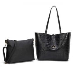 JT0001-black Tas Selempang Tote Fashion 2in1 Import