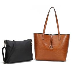 JT0001-brown Tas Selempang Tote Fashion 2in1 Import
