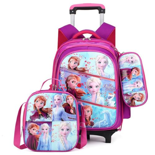 JT0005-frozen Tas Troli Sekolah Anak 3in1 Motif Karakter Import (6 Roda)