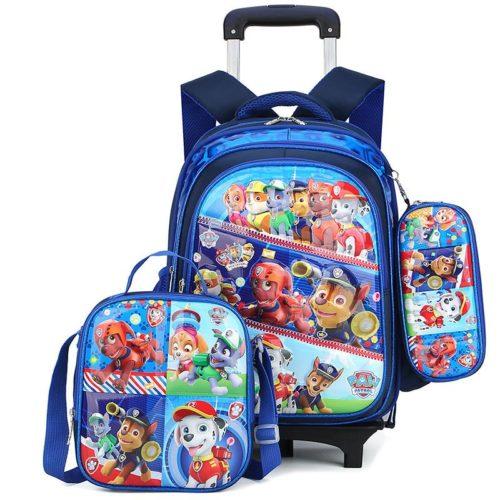 JT0005-pawpatrol Tas Troli Sekolah Anak 3in1 Motif Karakter Import (6 Roda)