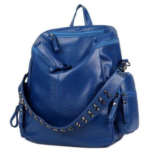 JT0008-blue Tas Ransel Fashion Import Wanita