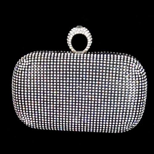 JT0010-black Tas Pesta Diamond Ring Wanita Elegan