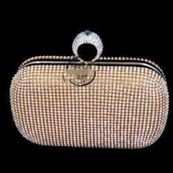 JT0010-gold Tas Pesta Diamond Ring Wanita Elegan