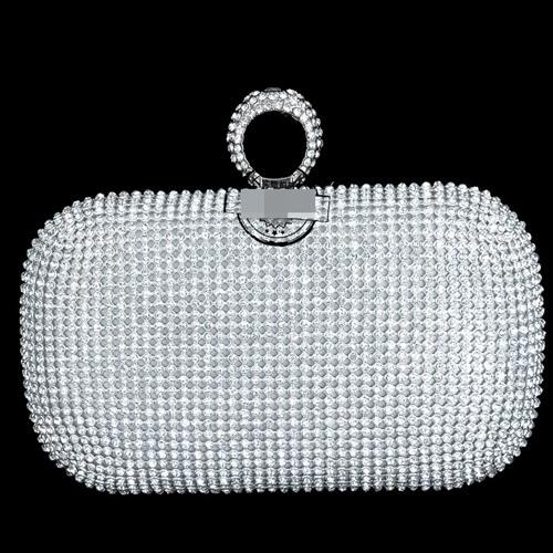 JT0010-silver Tas Pesta Diamond Ring Wanita Elegan