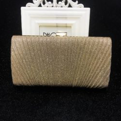 JT00100-gold Tas Pesta Clutch Bag Elegan Fashion Import (Tali Rantai Silver)