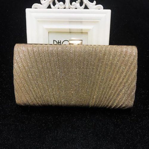 JT00100-gold Tas Pesta Clutch Bag Elegan Fashion Import (Tali Rantai Silver)