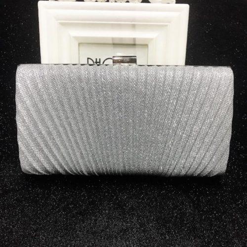 JT00100-silver Tas Pesta Clutch Bag Elegan Fashion Import (Tali Rantai Silver)