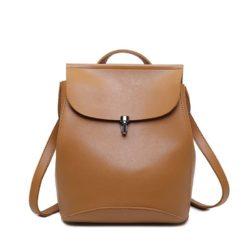 JT00101-brown Tas Ransel Wanita Stylish Kekinian Import