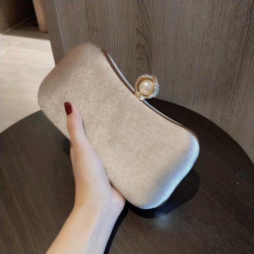 JT00105-beige Clutch Bag Pesta Elegan Import Terbaru