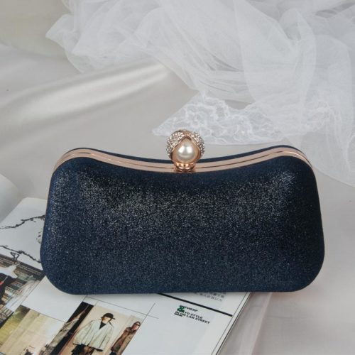 JT00105-darkblue Clutch Bag Pesta Elegan Import Terbaru