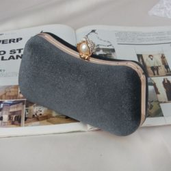JT00105-darkgray Clutch Bag Pesta Elegan Import Terbaru