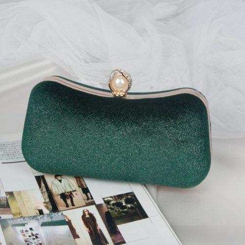 JT00105-green Clutch Bag Pesta Elegan Import Terbaru