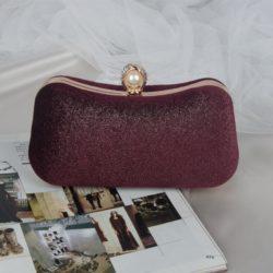 JT00105-wine Clutch Bag Pesta Elegan Import Terbaru