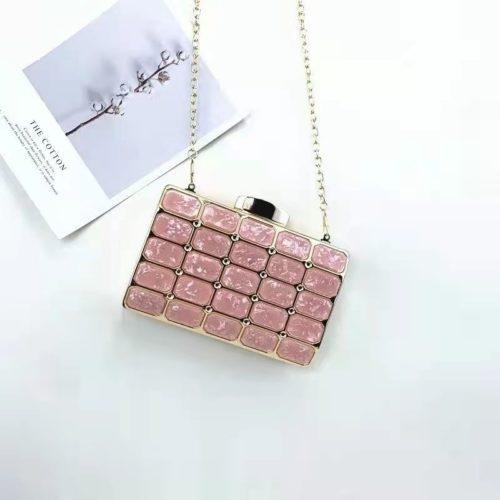 JT00121-pink Tas Pesta Import Wanita Elegan Terbaru