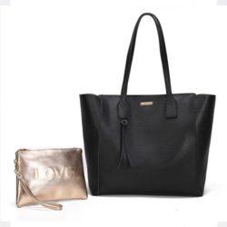 JT002-black Tas Selempang Tote Fashion 2in1 Import